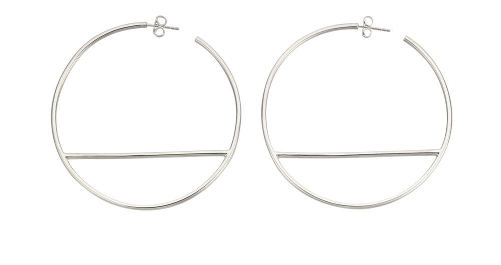 T-Bar Hoop Earring Silver