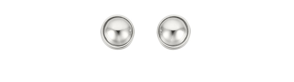 Ball Stud Earring Silver