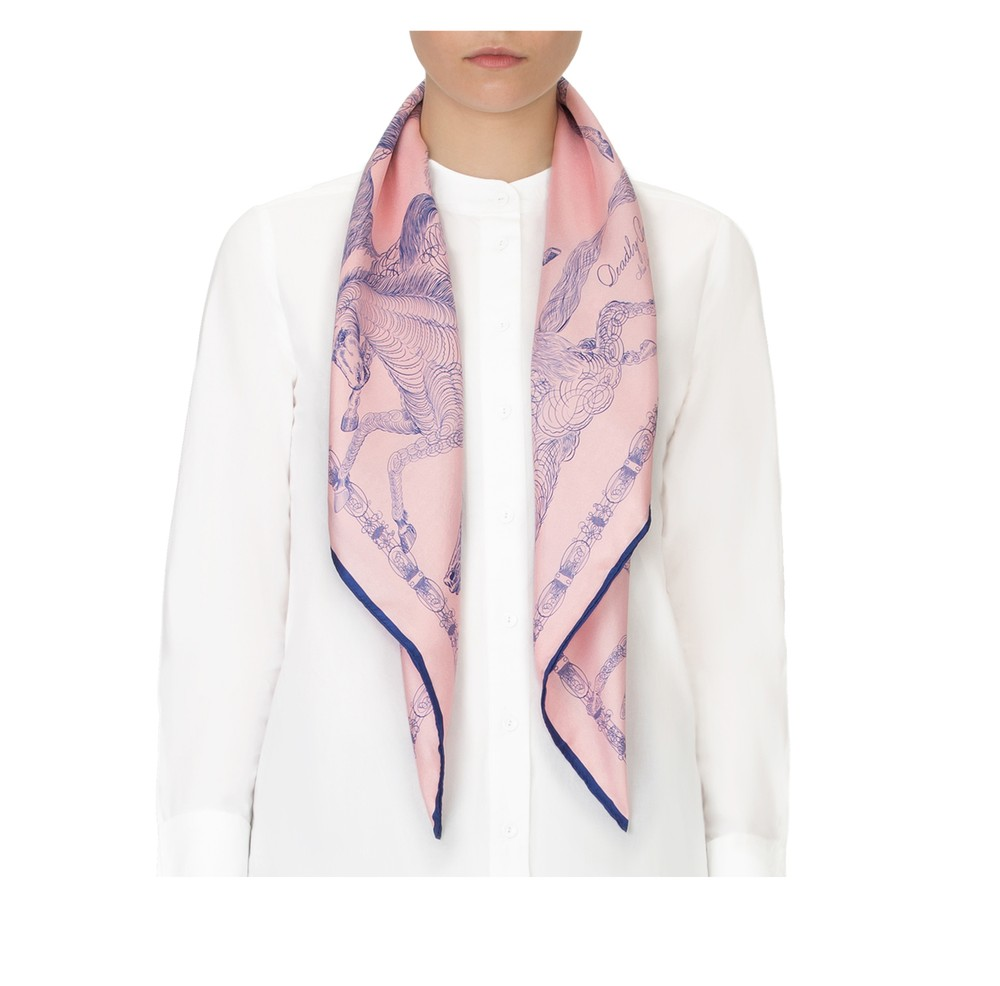 Wilde Scarf Navy Rouge