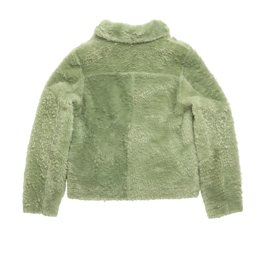 Sage Shearling Back Clear Cut