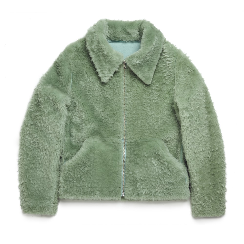 Sage Shearling Front Clear Cut
