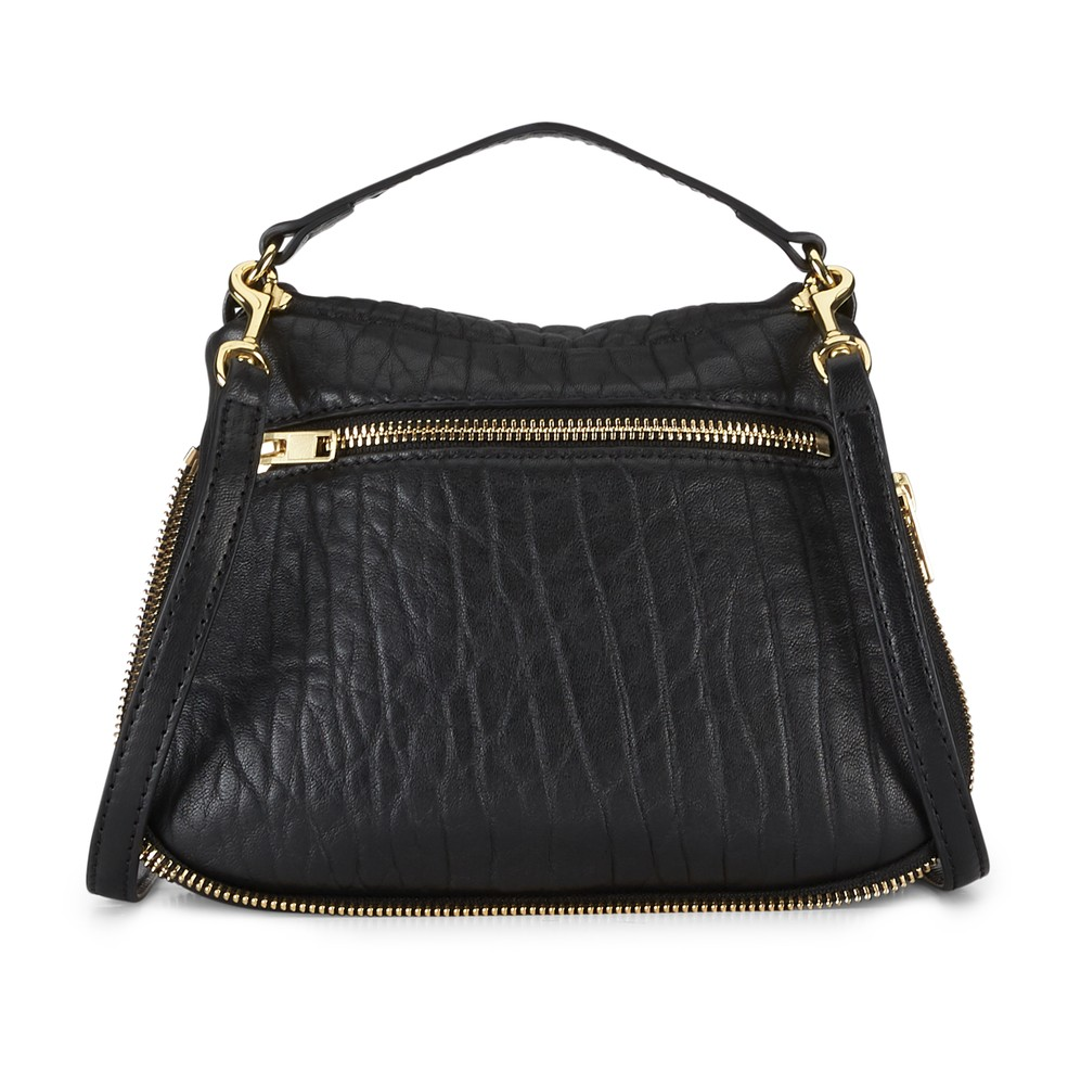 Black | Mr Caiman Mini | Leather Handbags | Deadly Ponies