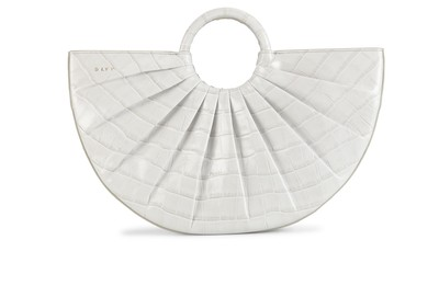 Dove | Pleated Bender Midi Croc | Designer Handbags | DLYP