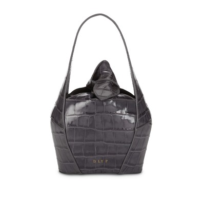 Storm | Top Knot Mini Croc | Designer Handbags | D LY P