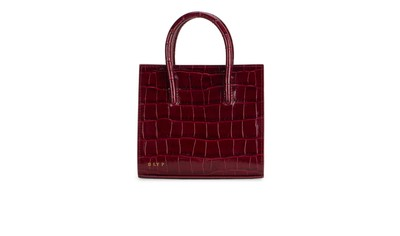 Bordeaux | Crush Tote Mini Croc | DLYP