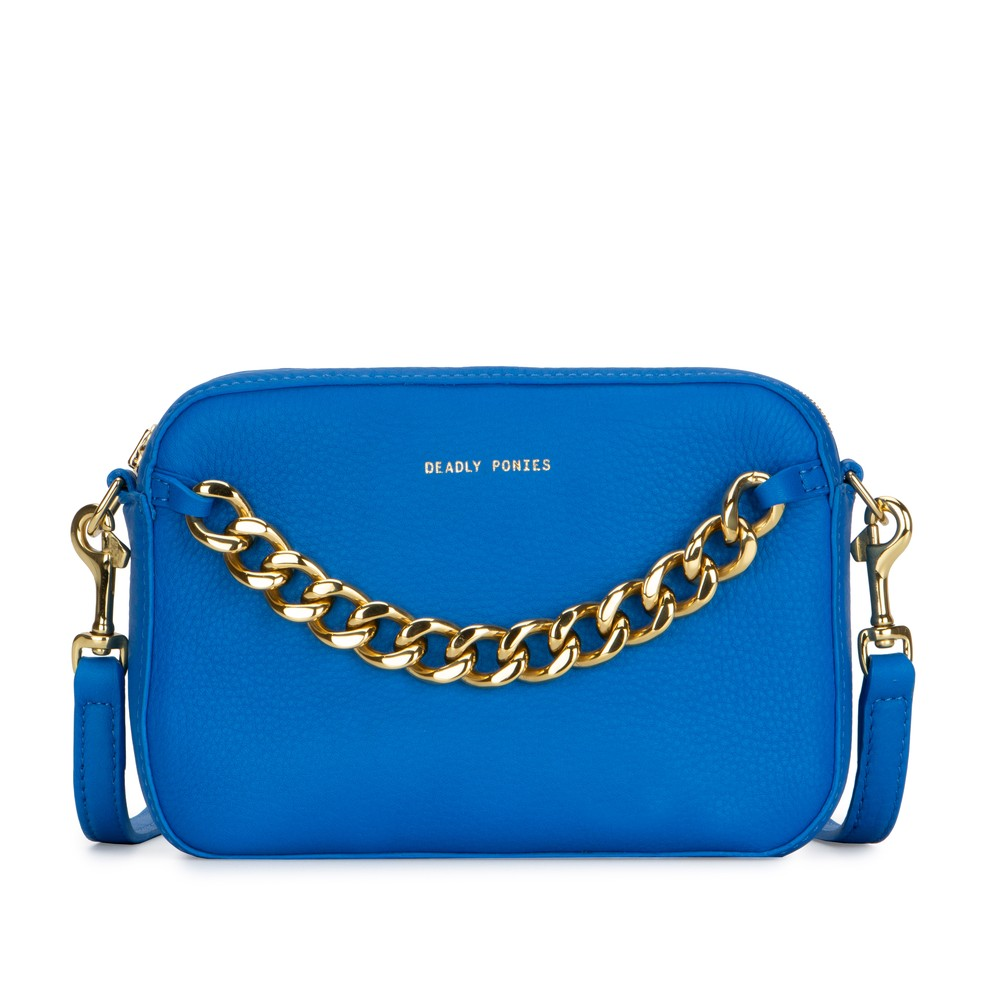 Front | Azure | Mr Cub Chain | Luxury | Designer | Deadly Ponies | Clutch | Handmade | Leather | Shop Now