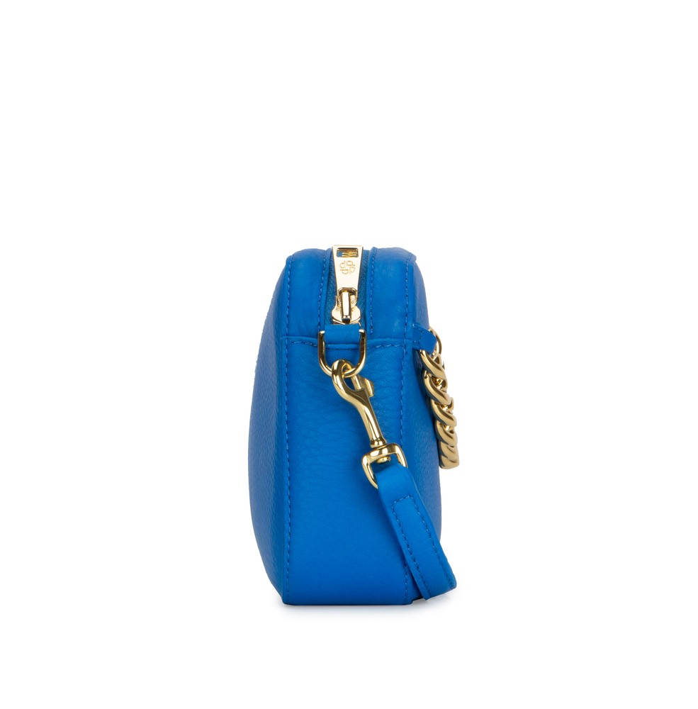 Side | Azure | Mr Cub Chain | Luxury | Designer | Deadly Ponies | Clutch | Handmade | Leather | Shop Now