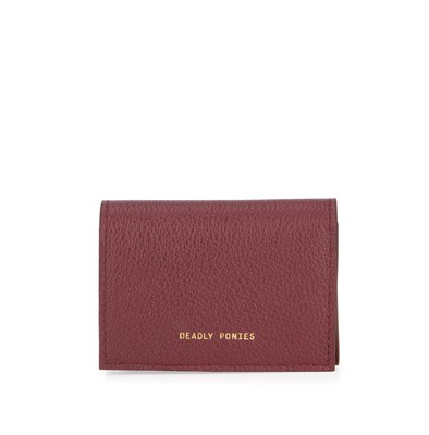 Bordeaux | Flip N Snap Wallet | Leather Wallets | Deadly Ponies