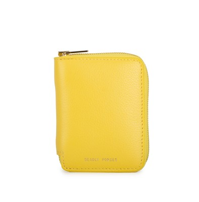 Mimosa - Front | Mini Wallet | Leather Wallets | Deadly Ponies