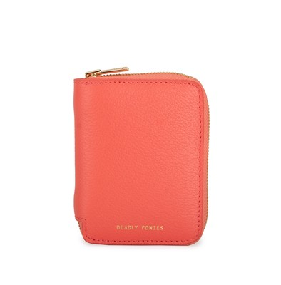 Papaya - Front | Mini Wallet | Leather Wallets | Deadly Ponies