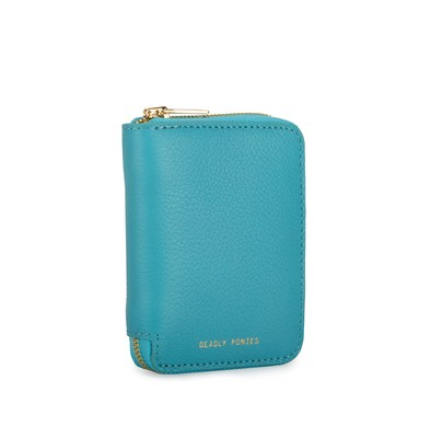 Turquoise Angle | Mini Wallet | Leather Wallets | Deadly Ponies