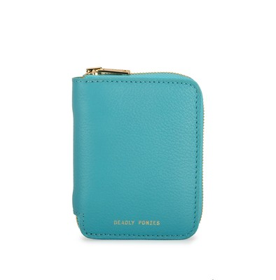 Turquoise Front | Mini Wallet | Leather Wallets | Deadly Ponies