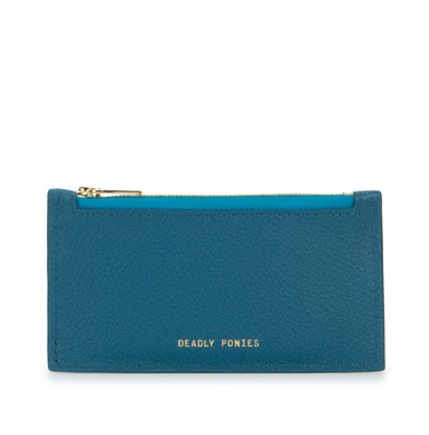 Teal | Card Holder | Leather Wallets | Deadly Ponies