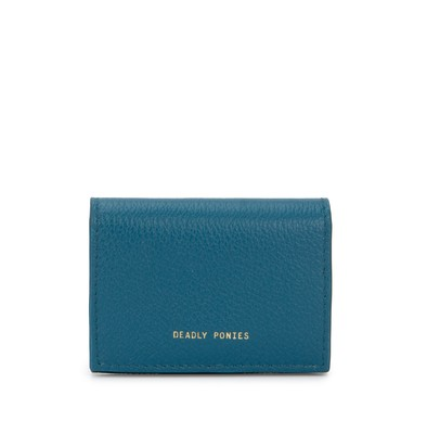 Teal | Flip N Snap Wallet | Leather Wallets | Deadly Ponies