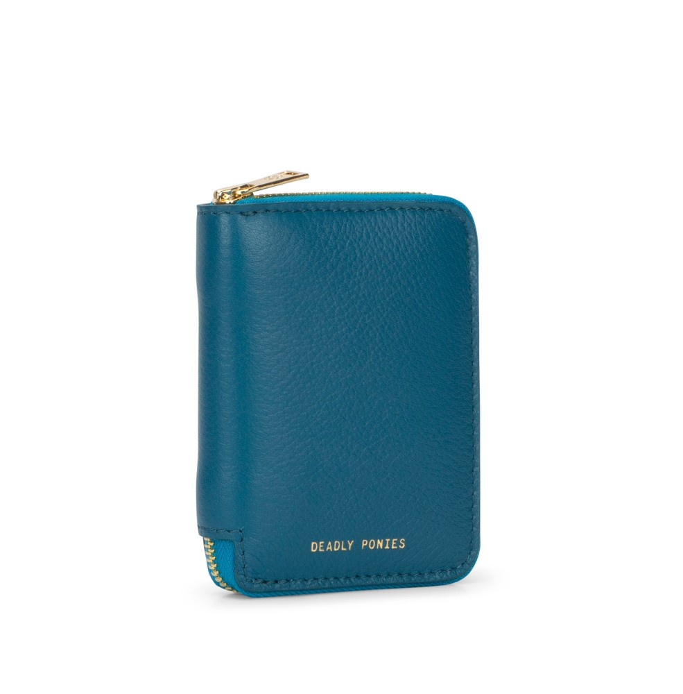 Teal | Mini Wallet | Leather Wallets | Deadly Ponies