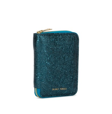 Aqua | Mini Wallet Metallic | Deadly Ponies