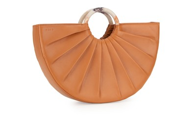 Camel | Pleated Bender Midi | Designer Handbags | D LY P