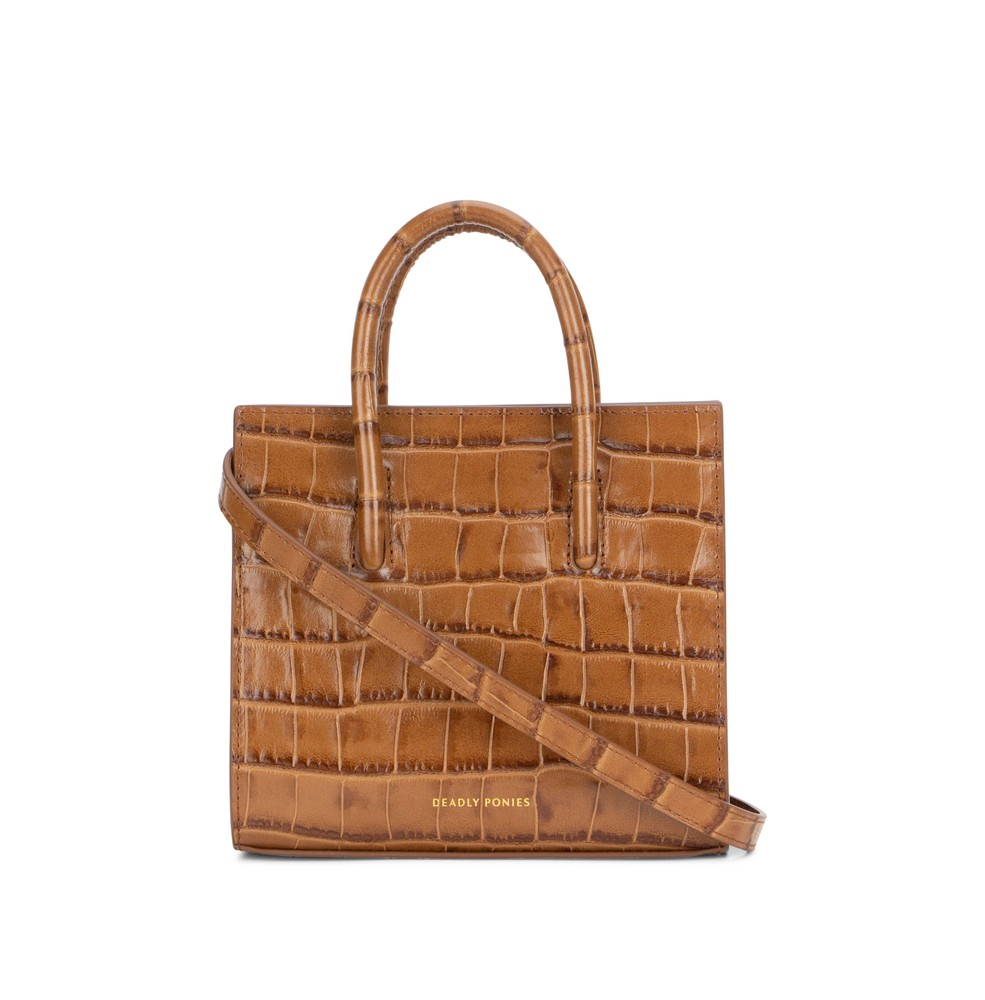 Toffee | Crush Tote Mini Croc | Deadly Ponies