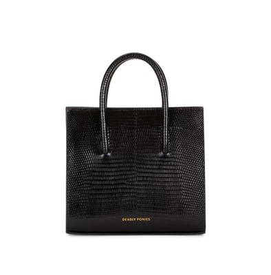 Black | Crush Tote Mini Lizard | Deadly Ponies