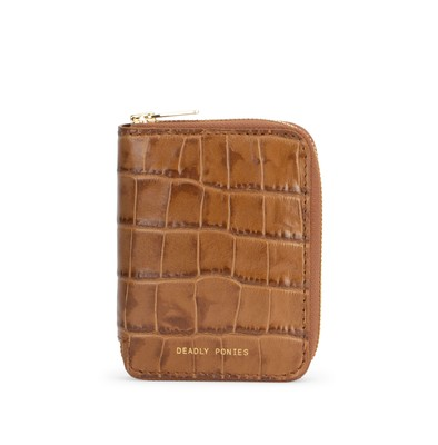 Toffee | Mini Wallet Croc | Leather Wallets | Deadly Ponies