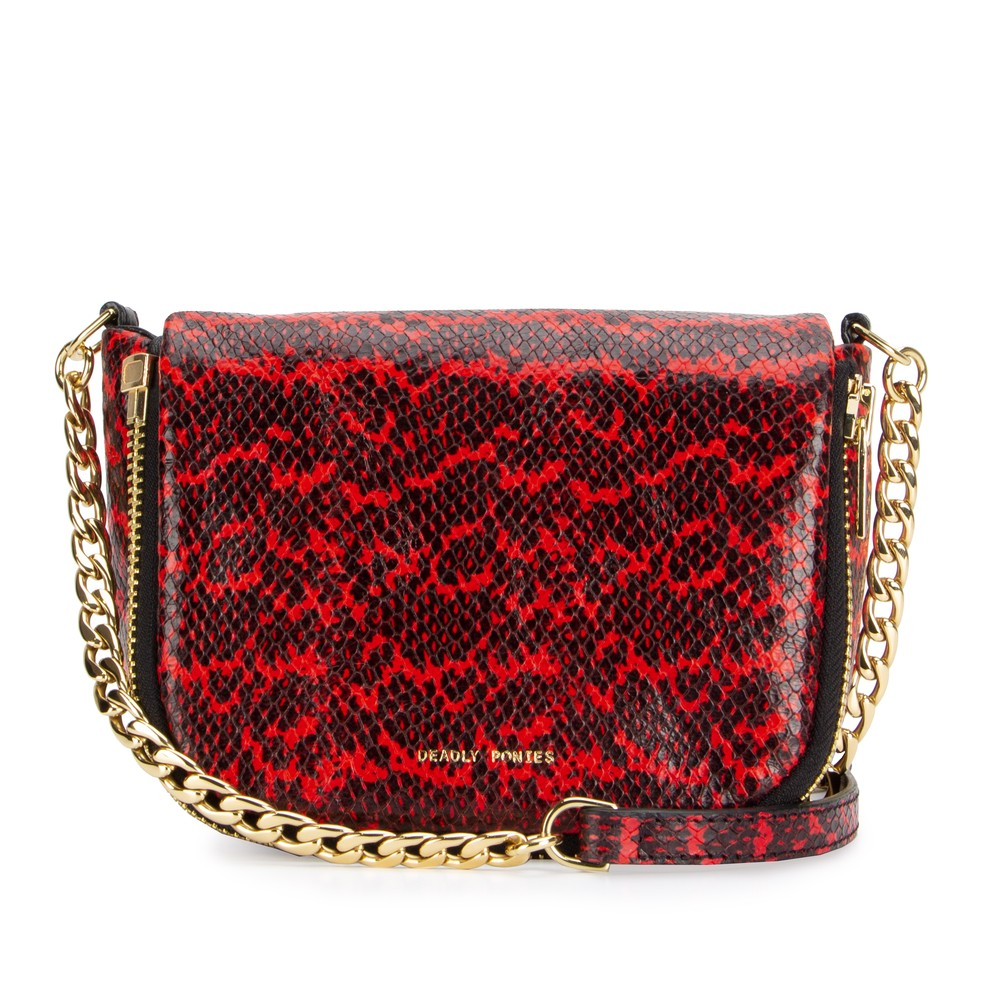 Scarlet | Mr Micro Chain Mail Python | Red | Deadly Ponies