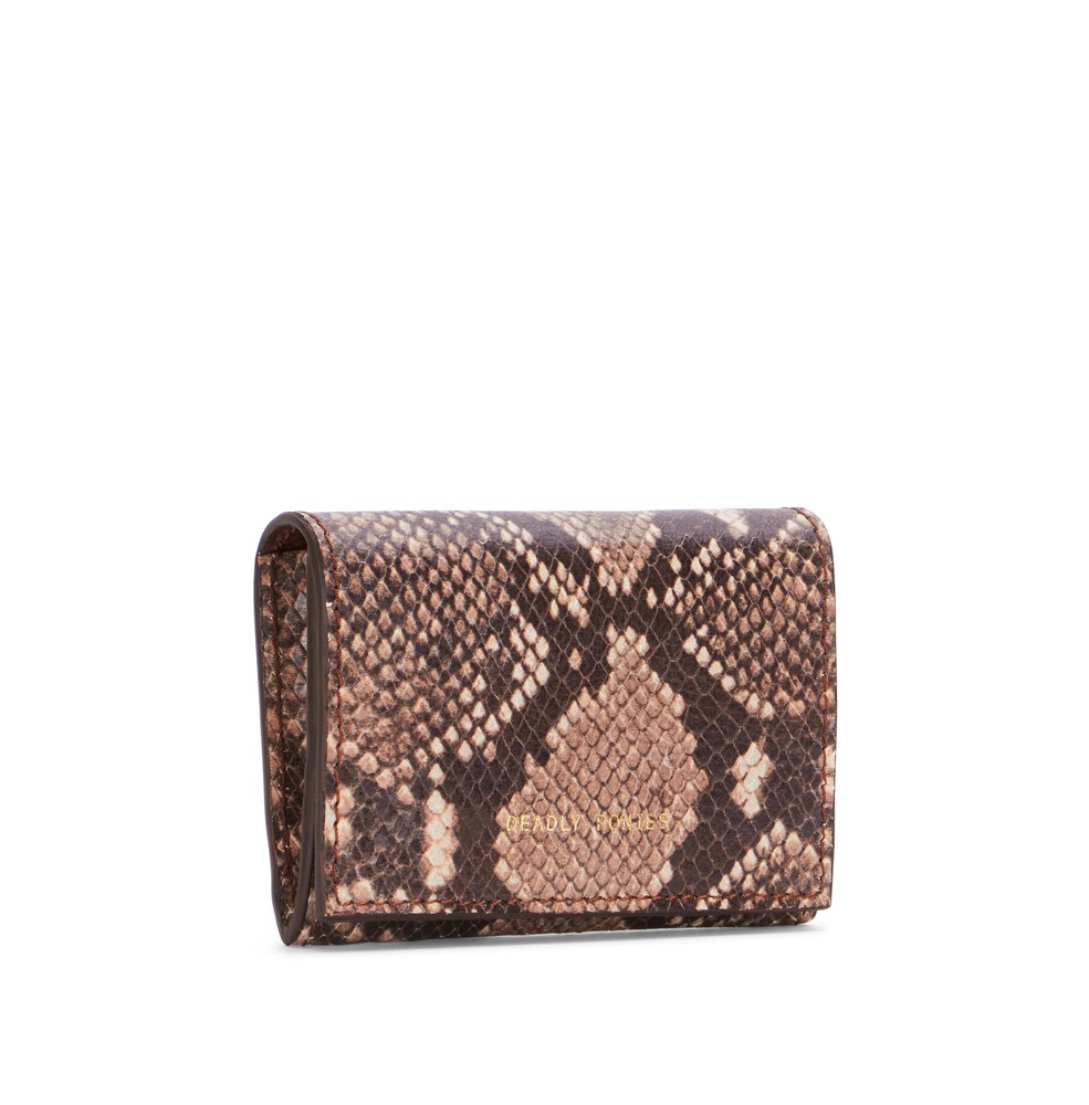 Sepia | Flip N Snap Wallet Python | Wallets | Deadly Ponies