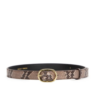 Sepia Small | Midi Belt Python | Deadly Ponies